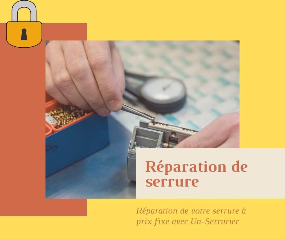 Réparation de serrure par serrurier honnete