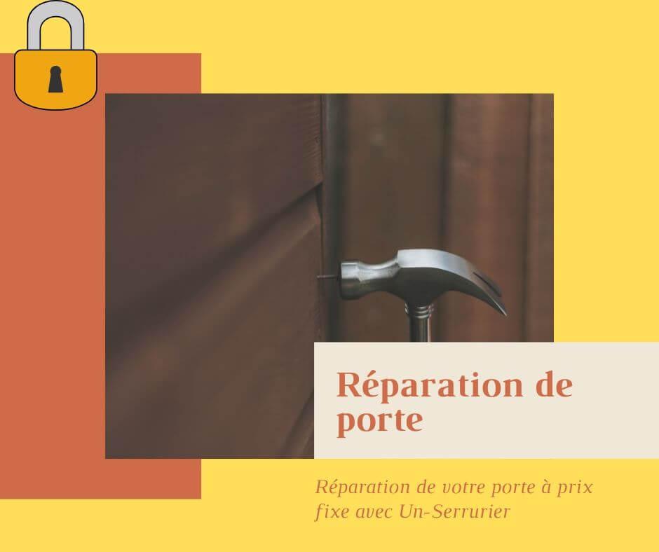 Réparation de votre porte par société de serrurerie