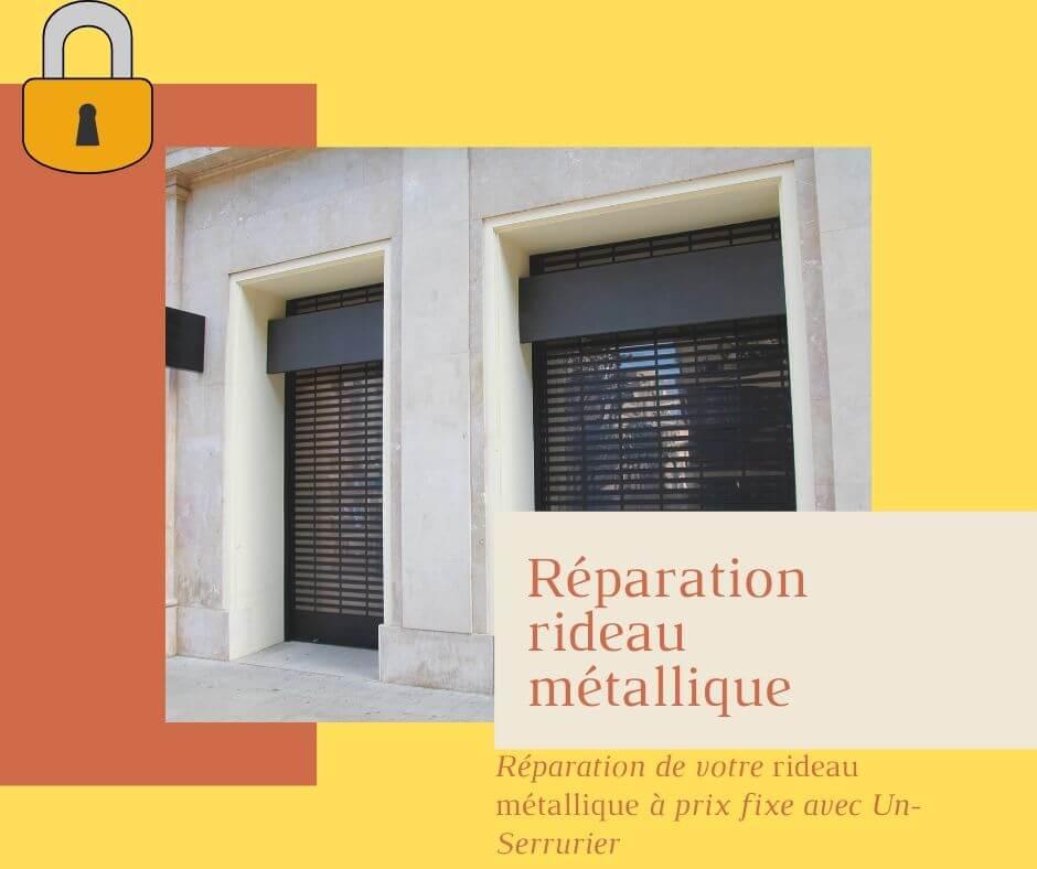 Réparation rideau métallique par un serrurier honnete