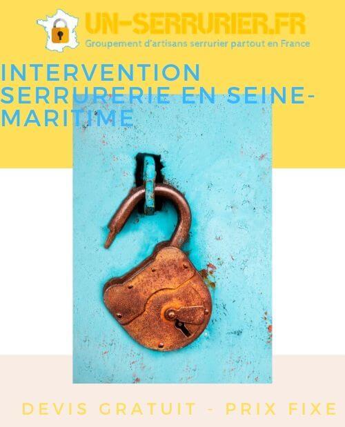 intervention serrurerie en Seine-Maritime 76