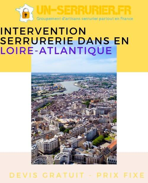 intervention serrurerie dans en Loire-Atlantique
